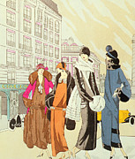 Twenties Posters - Rue de la Paix Paris Poster by Anonymous
