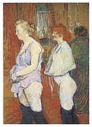 Toulouse-lautrec Prints - Rue des Moulins The Medical Inspection Print by Henri De Toulouse-Lautrec