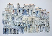 Printmaking Painting Posters - Rue du Rivoli Paris Poster by Anthony Butera