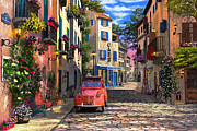 2cv Digital Art - Rue Francais by Dominic Davison