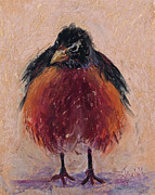 Birds Pastels Prints - Ruffled Feathers Print by Billie Colson