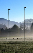 Goalpost Framed Prints - Rugby season Framed Print by Guy Pettingell