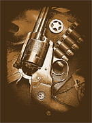 44 Magnum Prints - Ruger Super Blackhawk in Sepia 1 Print by Sheri McLeroy