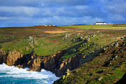 Sennen Posters - Rugged cliffs northeast of Lands End Poster by Louise Heusinkveld