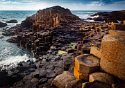 Hexagons Photos - Rugged Giants Causeway by Inge Johnsson