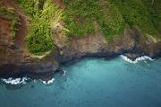 Rugged Kauai Coastline Print by Kicka Witte