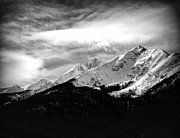 Winter Photo Photos - Rugged Winter Peaks by The Forests Edge Photography - Diane Sandoval