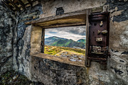 Abandoned Buildings Digital Art Framed Prints - Ruin with a View  Framed Print by Adrian Evans