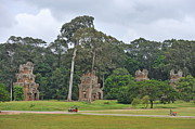 Ruins And Tourists At Angkor Wat Print by Sami Sarkis