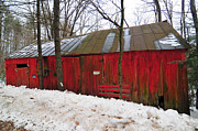 Red Barn. New England Prints - Ruins by the Roadside Print by Catherine Reusch  Daley