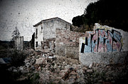Abandoned Buildings Prints - Ruins of an abandoned farm house Print by RicardMN Photography