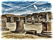 Pompeii Photos - Ruins of Pompeii - Naples Italy by Jon Berghoff