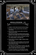 Old School House Prints - RULES for TEACHERS - 1872 - MONTANA TERRITORY Print by Daniel Hagerman