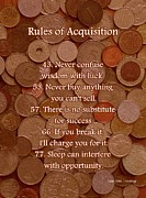 Coins Mixed Media Posters - Rules of Acquisition - Part 3 Poster by Anastasiya Malakhova