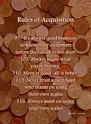 Coin Mixed Media Prints - Rules of Acquisition - Part 4 Print by Anastasiya Malakhova