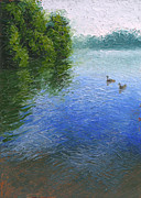 Waterfowl Paintings - Rum and Mississippi by Timothy Jones