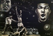Knockout Paintings - Rumble Young Man Rumble by Larry Silver