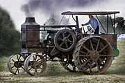Greyhound Photos - Rumely Oil Pull In Working Clothes by F Leblanc