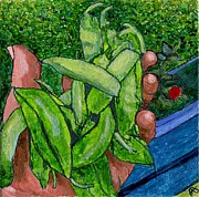 Rummenie's Snap Peas Print by Phil Strang