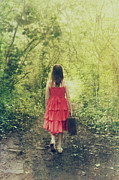 Children Walking Away Posters - Run away Poster by Innershadows Photography