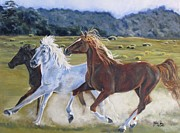 Mustang Paintings - Run with the Wild by Melody Perez