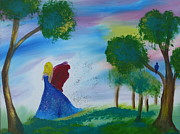 Christmas Holiday Scenery Paintings - Runaway by Krista May