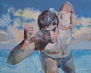 Athlete Paintings - Runner by Michael Creese