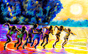 Running Pastels - Runners on the Starting Line by Dariusz Janczewski