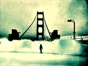 Golden Gate Bridge Posters - Runnin Away Gotta Get Outta This Town Poster by Lisa McKinney