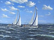 Sailing Boat Originals - Running Close Hauled by Richard Harpum