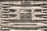 Picture Window Frame Photos Art - Running Down The Line Sepia by James Bo Insogna