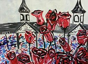 Kentucky Derby Painting Originals - Running For Some Roses by Eric Maddix
