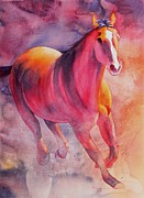 Spirit Horse Prints - Running From The Storm Print by Robert Hooper