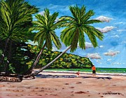 Coconut Trees Paintings - Running by Laura Forde