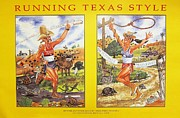 Commissioned Digital Art - Running Texas Style by Christopher  Cudworth
