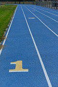 Finish Line Metal Prints - Running Track Metal Print by Paul Ward