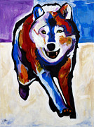 Imaginary Realism Painting Originals - Running Wolf by Steve Willgren