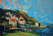 Coast Paintings - Runswick Bay Yorkshire by Neil McBride