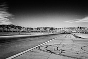 Air Travel Framed Prints - runway at McCarran International airport Las Vegas Nevada USA Framed Print by Joe Fox