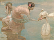 Swans... Prints - Rupert Bunny - A Summer Morning Print by Nomad Art And  Design