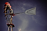 Rural America Windmill Print by Tom Gari Gallery-Three-Photography