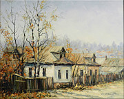 Romania Paintings - Rural Autumn by Petrica Sincu