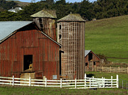 Marin County Photo Posters - Rural Barn Poster by Bill Gallagher