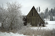 January Prints - Rural Barn Print by Idaho Scenic Images Linda Lantzy