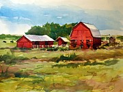 Rural Barns Print by Spencer Meagher