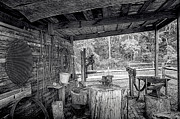 Lynn Palmer Prints - Rural Blacksmith Shed Print by Lynn Palmer