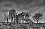 Haunted House Print Prints - Rural Farmhouse Print by Jon Dickson