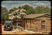 Myrtle Green Prints - Rural Office Building Print by Linda Phelps