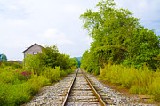 Berks County Prints - Rural Pa Train Tracks Print by Bill Cannon