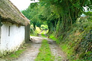 Charming Cottage Prints - Rural Road Print by Charlie and Norma Brock